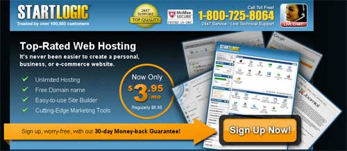 startlogic-coupon Startlogic Web Hosting Review and How To Get 45% OFF Startlogic Services