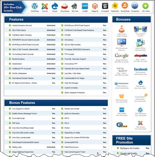 brainhost-features BrainHost Company Review (Ratings, Brain Host Coupon Codes, Support, Complaints, ...)