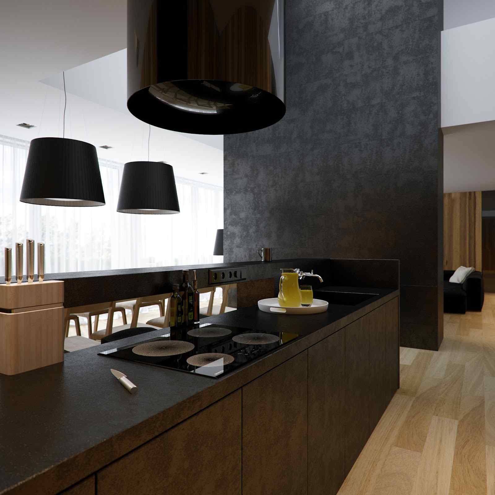 2-Black-white-kitchen-chimney-extractor-fan 6 Beautiful Black and White Decor Ideas