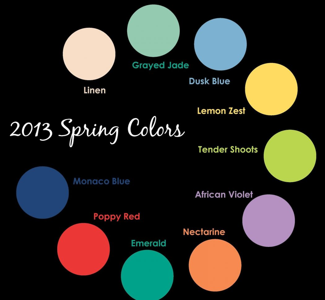 2013-spring-colors Know Spring Colors!