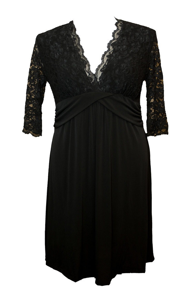 An-Empire-style-is-universally-flattering-and-this-Kiyonna-Lace-Dress Dresses You Can Wear in the Holiday Season