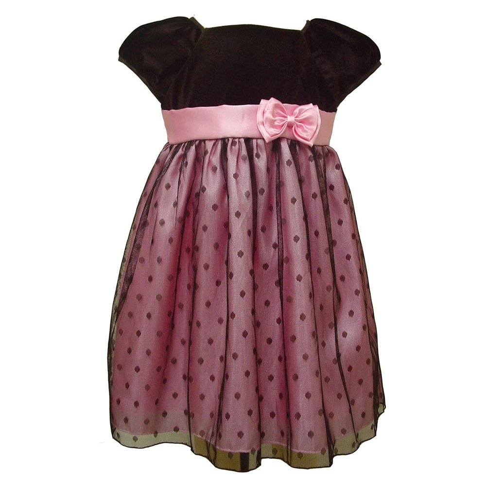 Baby-Holiday-Dress-Velvet-Top-with-Dot-Tulle 17 Fantastic Collection of Holiday Baby Dresses