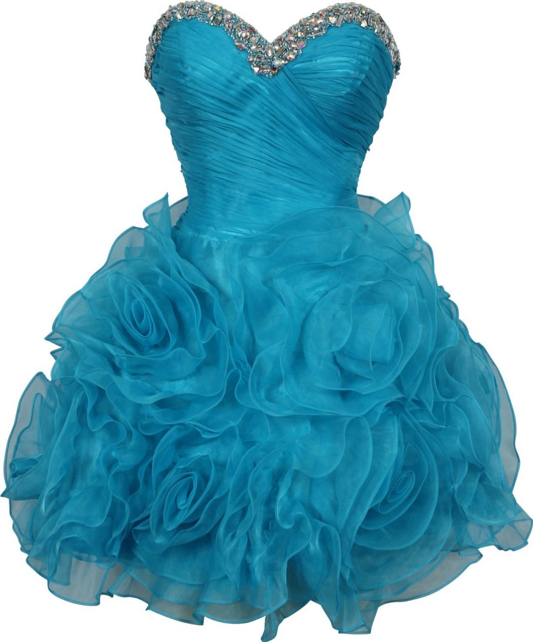 Beaded-Organza-Florettes-Mini-Prom-Dress-Formal-Gown-Junior-and-Junior-Plus-Size Dresses You Can Wear in the Holiday Season