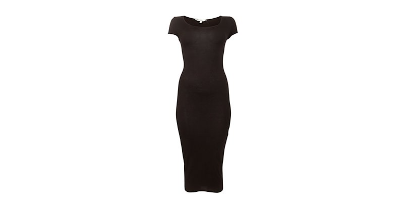 Black-Black-Black-Cap-Sleeve-Bodycon-Midi-Dress-276280901-New-Look 19 Special Collection of Long Black Dresses
