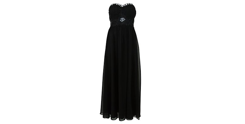 Black-Black-Chi-Chi-Black-Embellished-Chiffon-Maxi-Dress-270543001-New-Look 19 Special Collection of Long Black Dresses