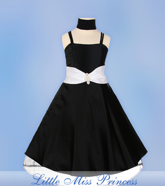 Black-Taffeta-Party-Dress-with-Peek-a-Boo-Skirt-Hemline1 Amazing Dresses Collection for Little Princesses