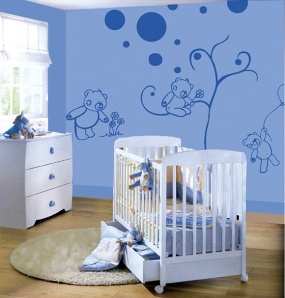 Blue-Wall-Decorations-for-Kids-Bedroom 16 Trendy Ideas for Wall Decor for 2019