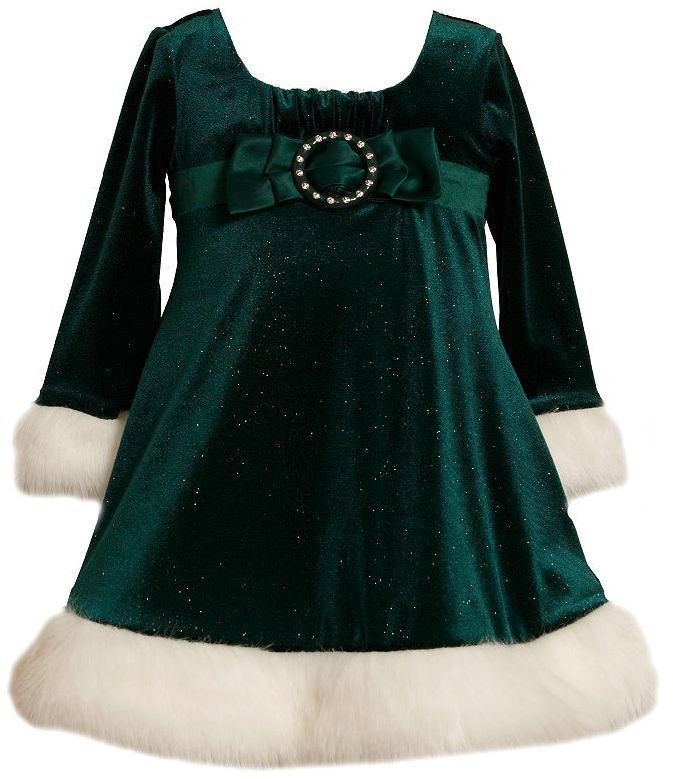 Bonnie-jean-emma-santa-dress-baby.-Bonnie-Jean-from-Kohls 17 Fantastic Collection of Holiday Baby Dresses