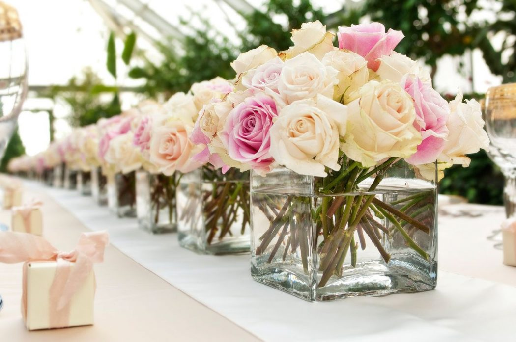 Champagne-Ivory-Blush-Rose-Wedding-Centerpiece-