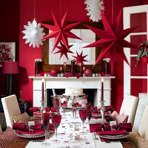 Contemporary-Red-Dining-Room-with-Beautiful-Lighting-2 The Decor Designers' Secrets in Choosing Their Colors