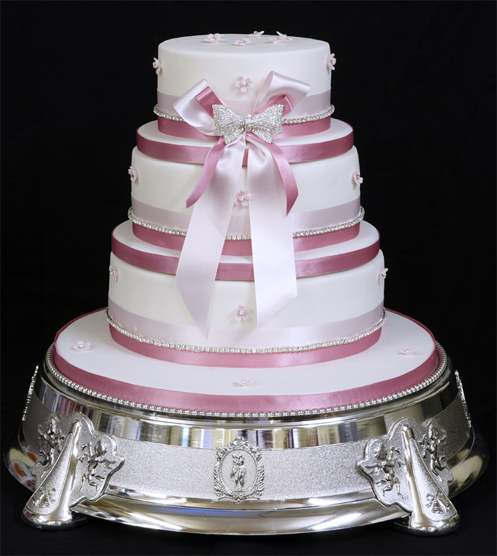 Copy-of-Tiered-Wedding-Cake-Stacked-with-Diamontee-Decorations Wonderful ideas for decorating your wedding