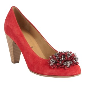 Gabor-Hawk-Suede-Rosette-Court-Shoes-Red-300x300 15 Gabor Women Shoes Designs