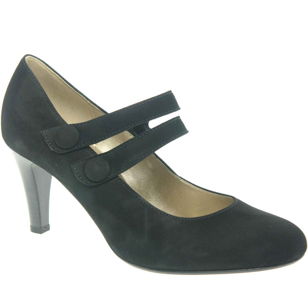 Gabor Tegan Ladies Twin Strap Court Shoes
