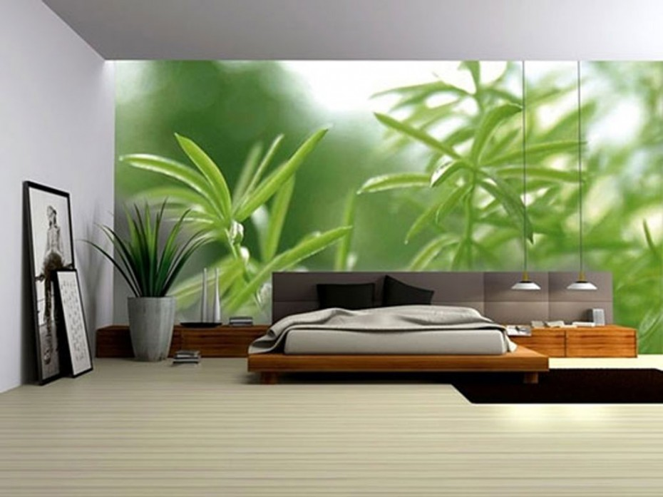 Green-Plant-Wall-Decoration-Bedrooms-930x697 16 Ideas for Wall Decor