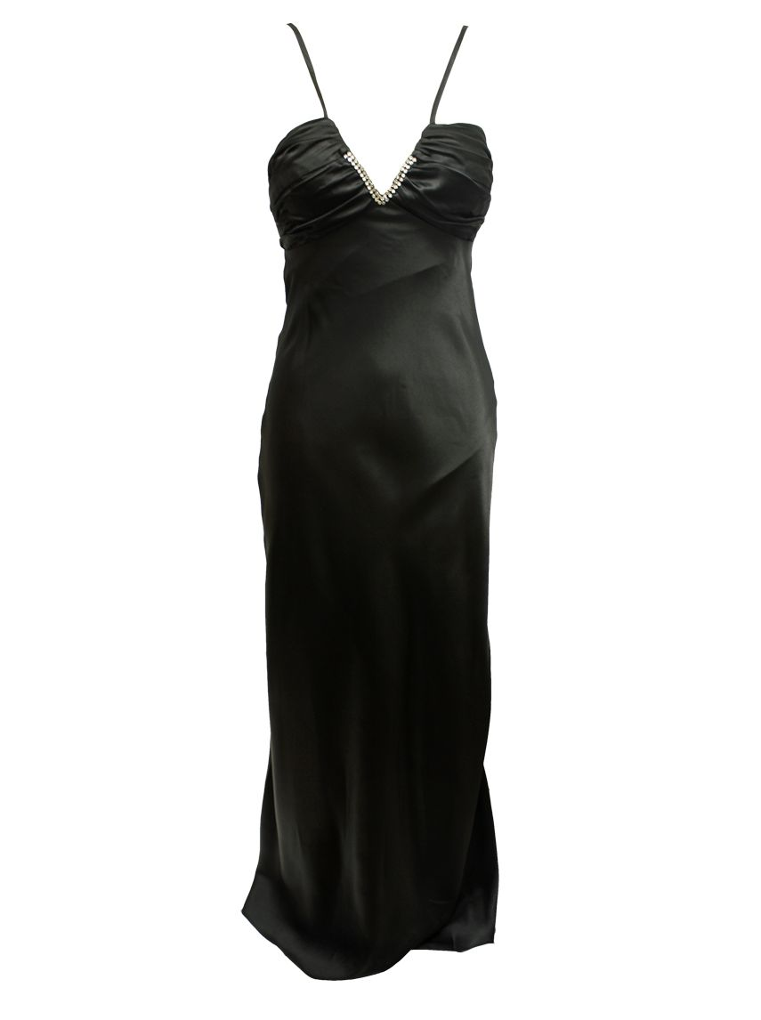 Ignite-Evenings-long-black-dress-with-diamante-detail 19 Special Collection of Long Black Dresses