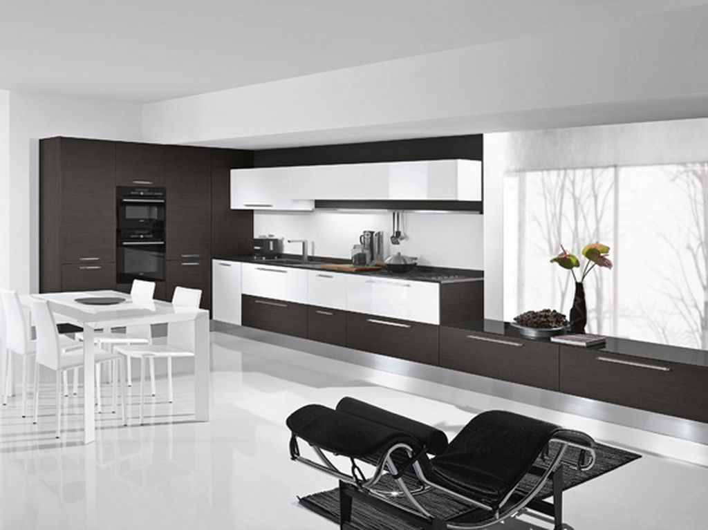 Modern-black-white-kitchen-and-dining-room 6 Beautiful Black and White Decor Ideas