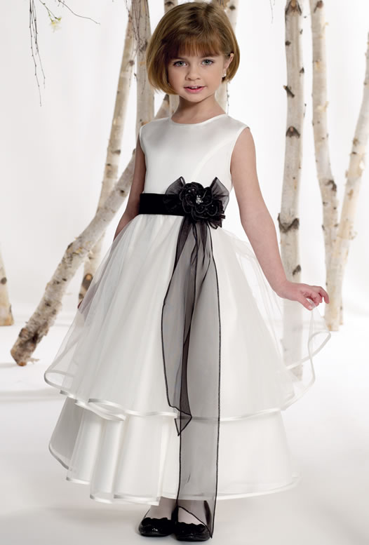 Organza-Common-Layers-Flower-Trimed-Inexpensive-Party-Dress-for-Little-Girls-... Amazing Dresses Collection for Little Princesses