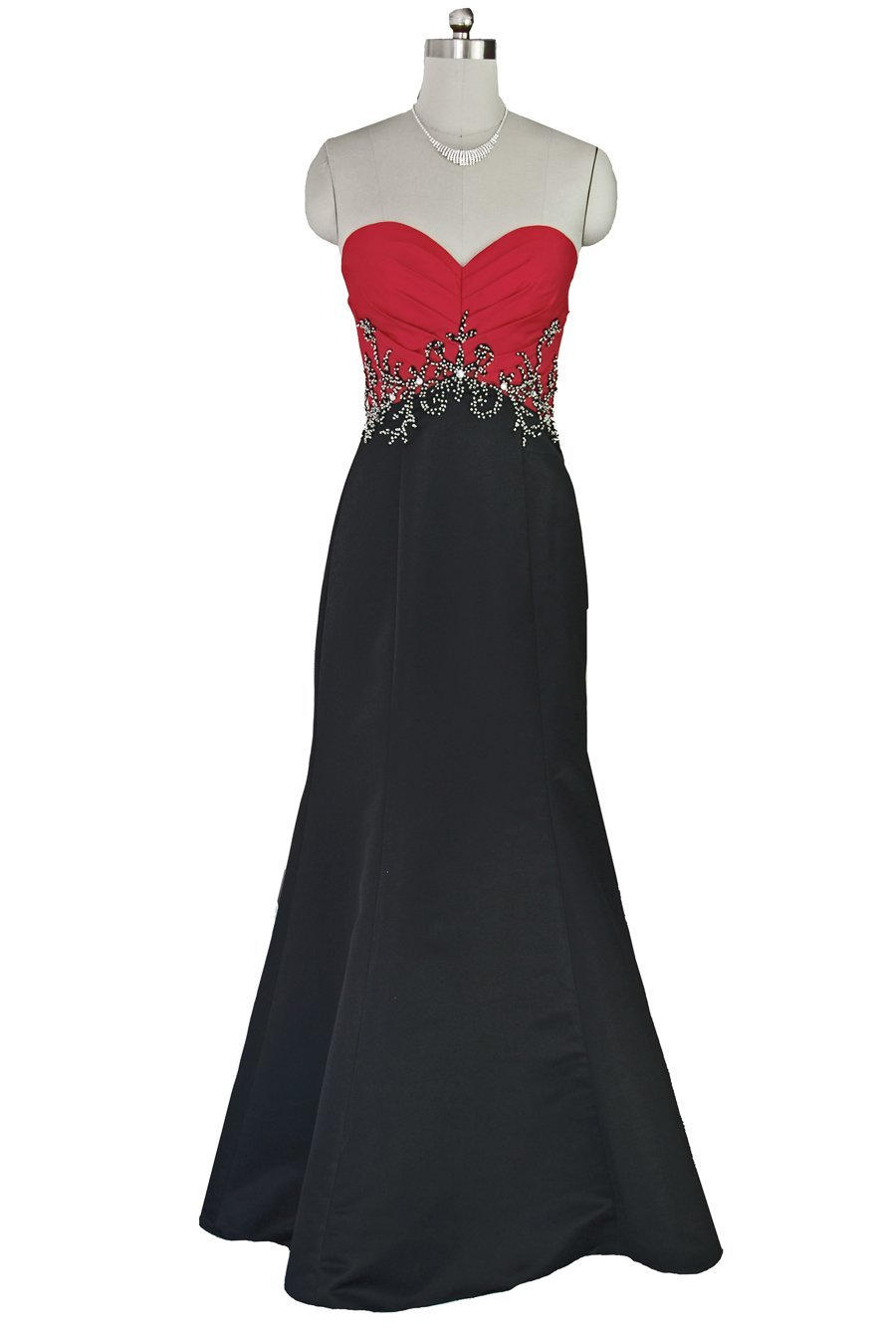 Qpid-Showgirl-Red-Black-two-tone-fishtail-long-evening-dress 19 Special Collection of Long Black Dresses