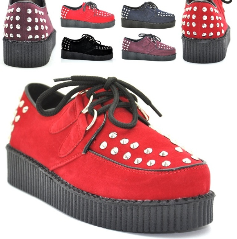 Studs-Decorated-Goth-Punk-Creepers-Shoes-Pumps Is Creeper Shoes Strange?