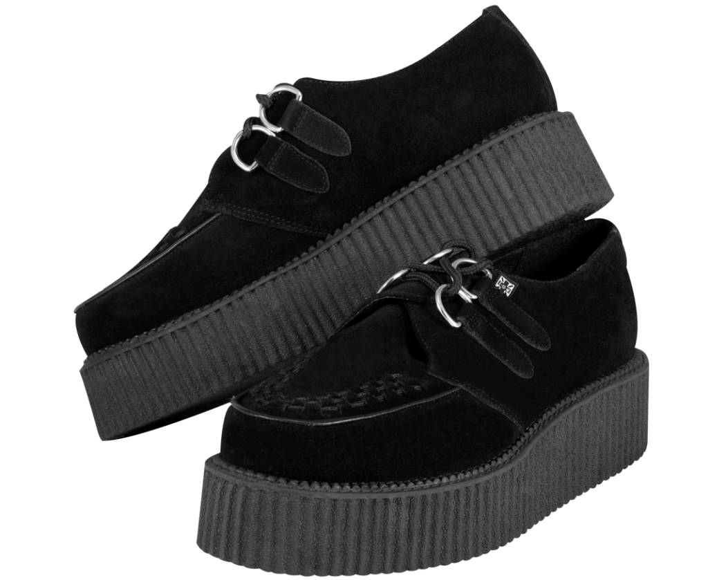 T.U.K.-Black-Suede-Mondo-Creepers Is Creeper Shoes Strange?