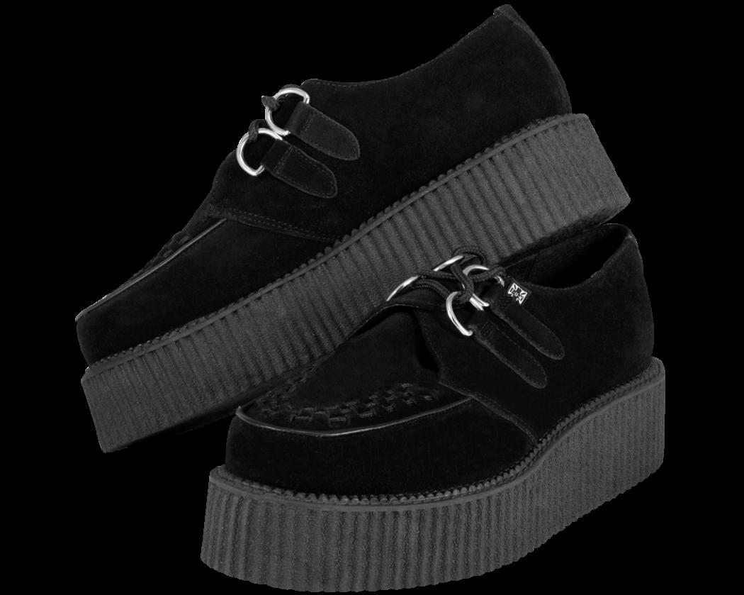 T.U.K.-Black-Suede-Mondo-Creepers Is Creeper Shoes Strange?
