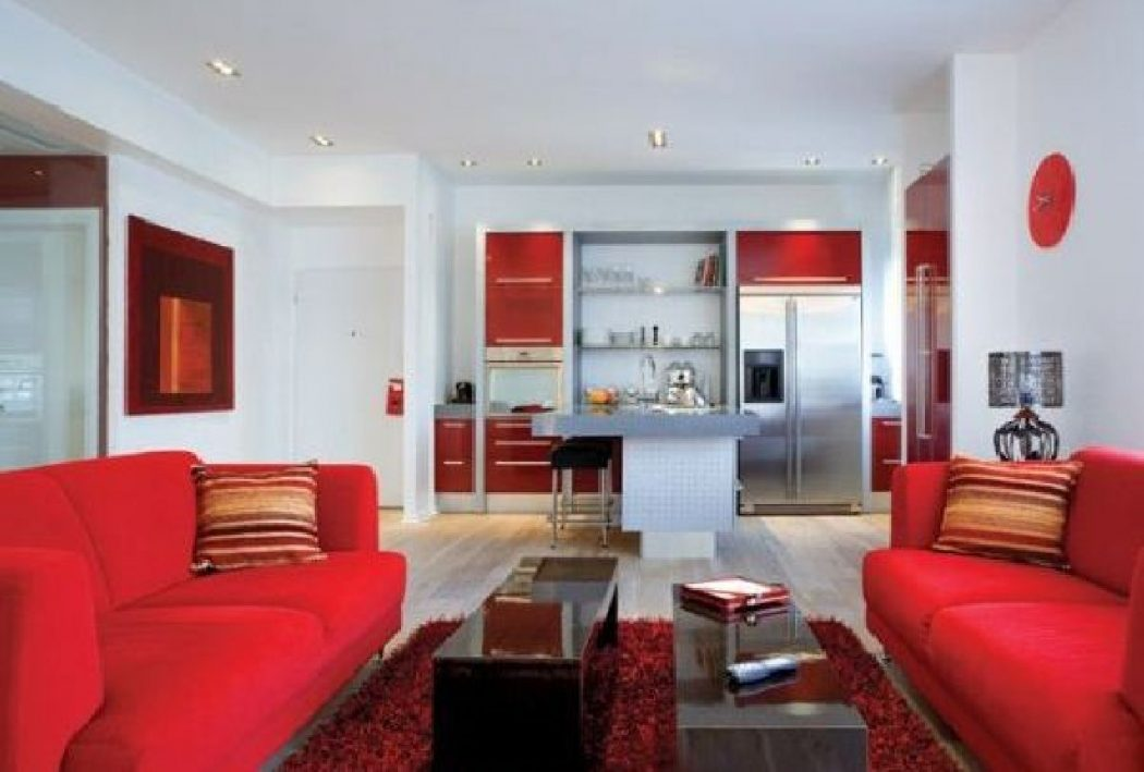 Tel-aviv-apartment-design-and-interior-decorating-ideas-stunning-red 19 Ideas for Your Apartment Decorating