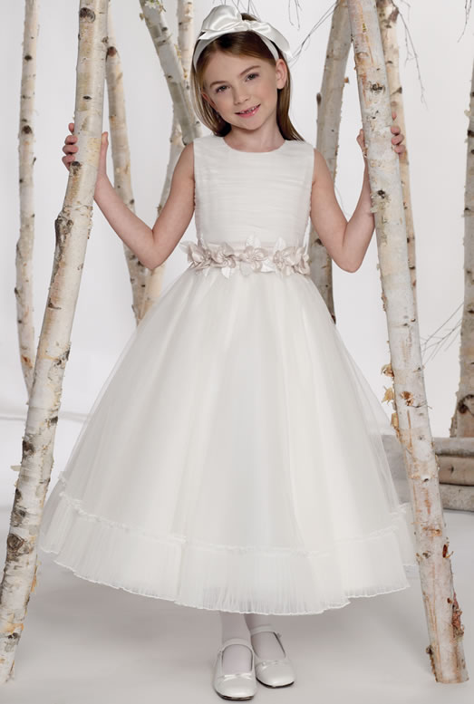Trimed-Ruched-Tulle-Cheap-Party-White-Dress-For-Little-Girls-Wholesale Amazing Dresses Collection for Little Princesses