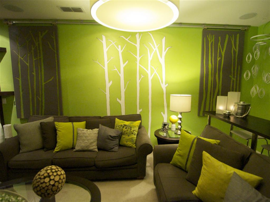 Wall-Painting-Green-Tree 16 Trendy Ideas for Wall Decor for 2019
