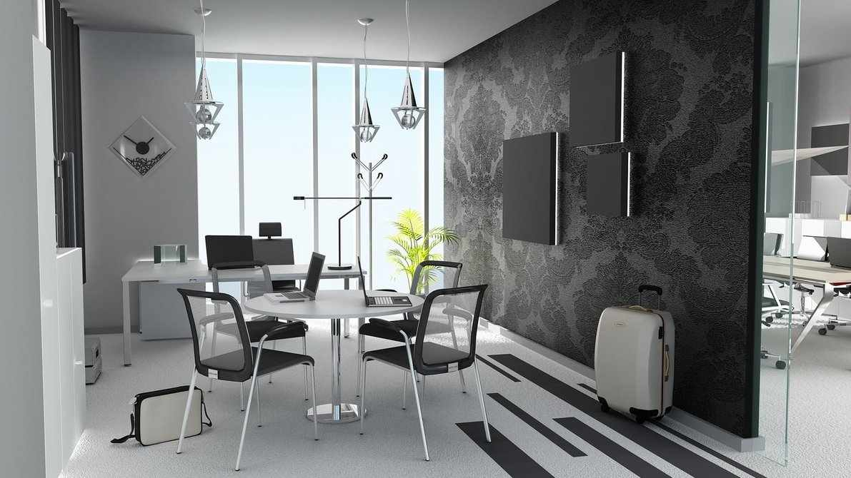White-And-Black-Office-Plan 6 Beautiful Black and White Decor Ideas