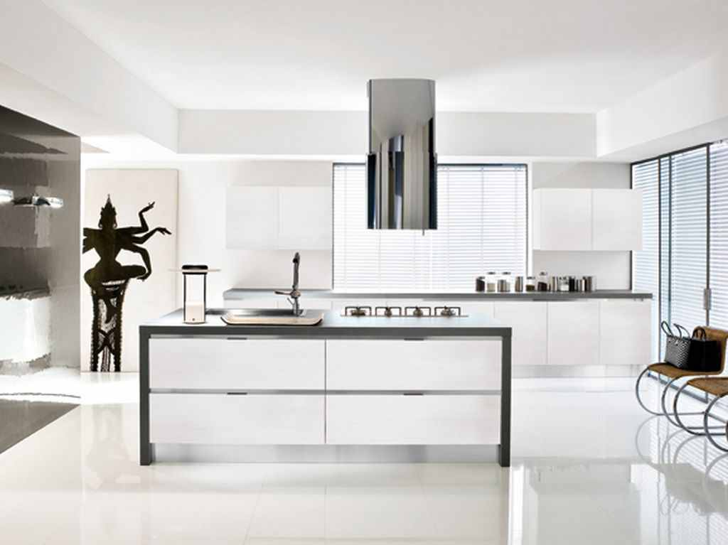 amazing-modern-minimalist-black-and-white-kitchen 6 Beautiful Black and White Decor Ideas