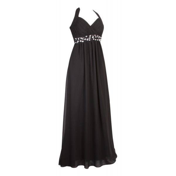 black-beaded-chiffon-long-maxi-dress 19 Special Collection of Long Black Dresses