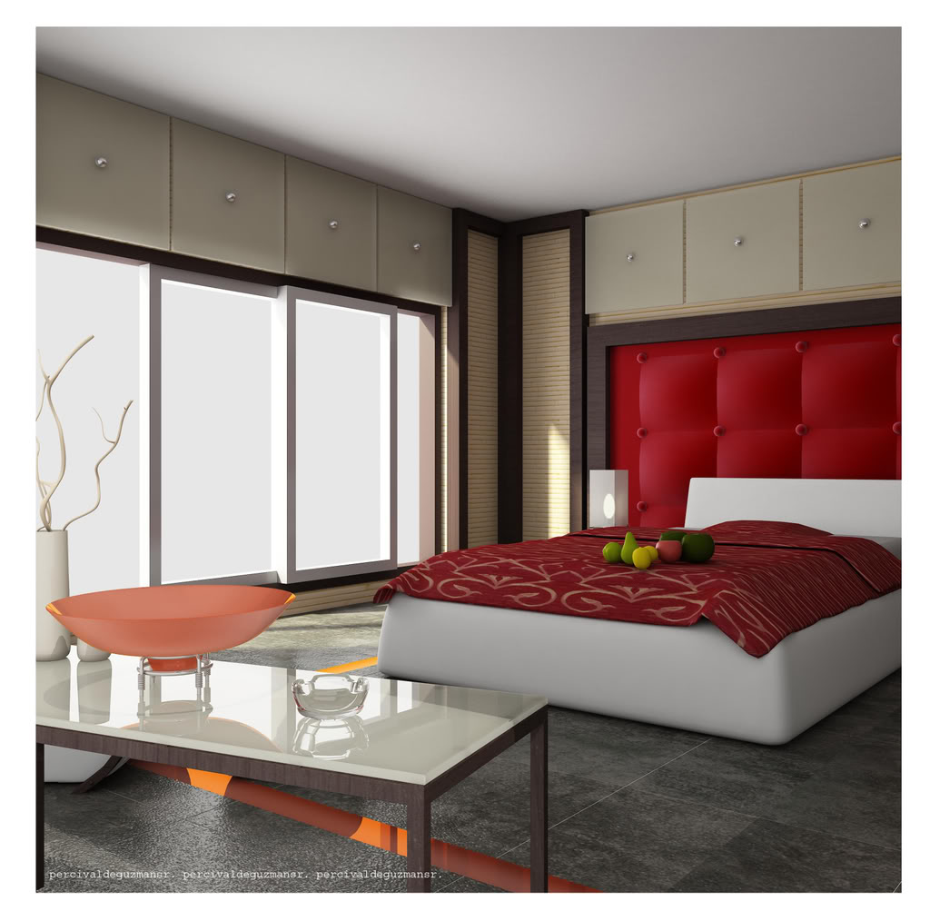 bright-red-bedroom-design The TOP Designers Tell You Secrets for Home Decoration