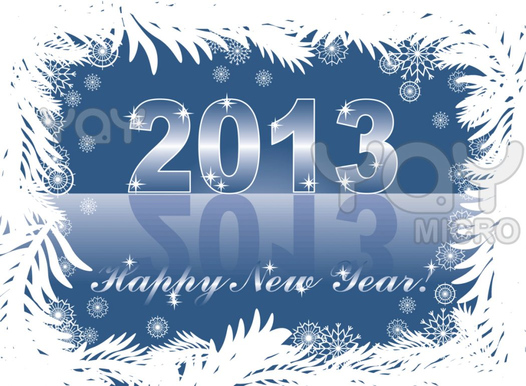 christmas-and-new-year-card-with-2013 Beautiful Greeting Cards for the New Year