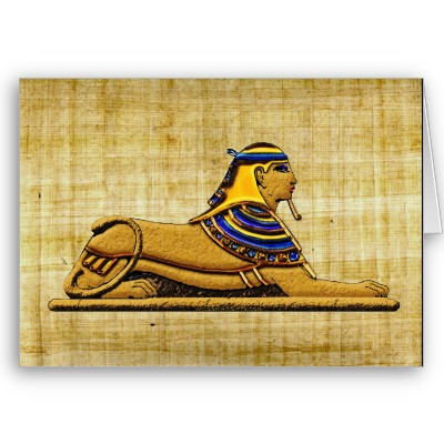 egyptian_sphinx_on_papyrus_greeting_card-p137310548042961033b21fb_400 Papyrus Greeting Cards ... SPECIAL Gift For Your Friend