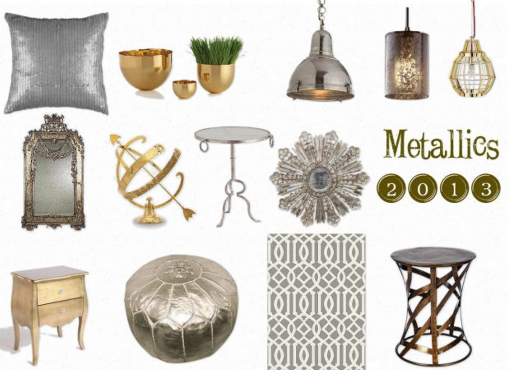 metallics2 Make Your Home a Stylish One With Every New Year