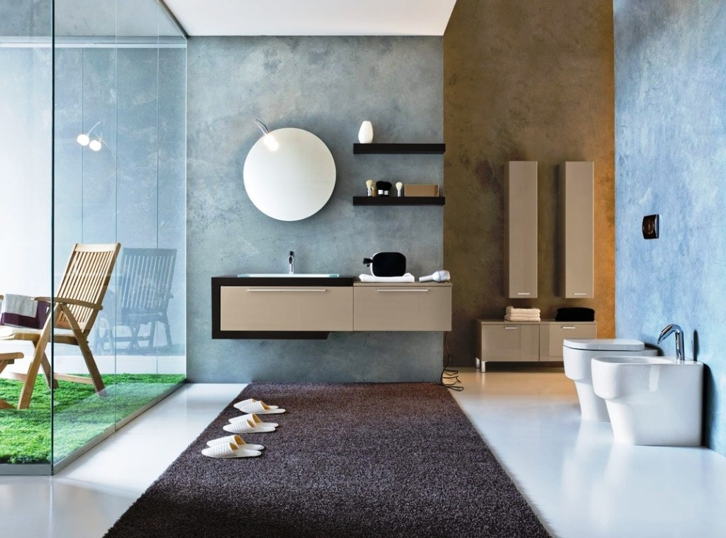 modern-blue-biege-bathroom-trend-20132 Make Your Home a Stylish One With Every New Year
