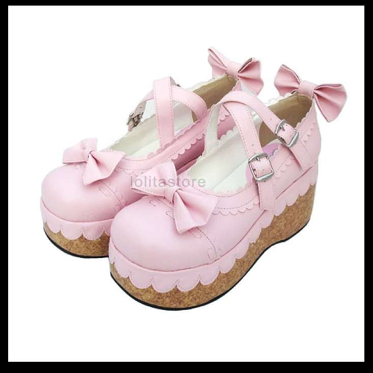 new-japan-classic-lolita-women-s-shoes-high-platform-creeper-bow-buckle-princess-cosplay-7cm-sole1 Is Creeper Shoes Strange?
