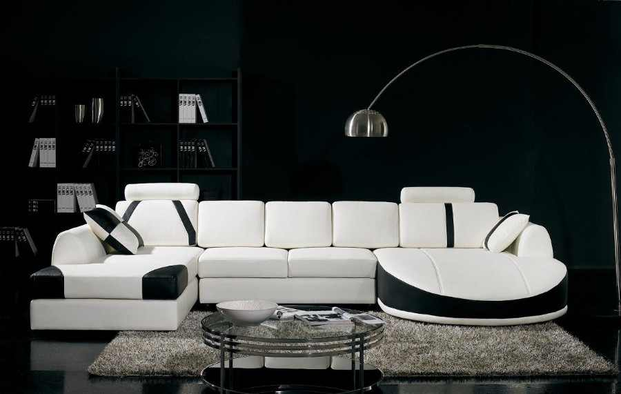 sectional-couches 6 Beautiful Black and White Decor Ideas