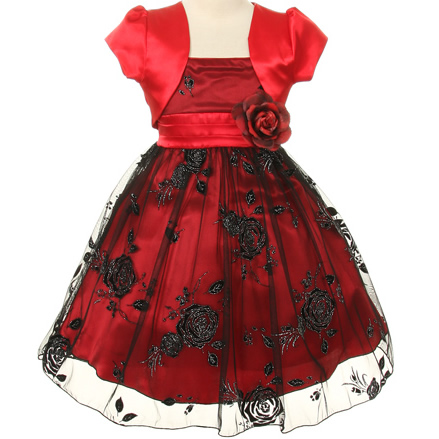 silver-grey-flower-girl-dress-... Red Dress for Little Girls