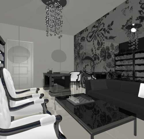 study 6 Beautiful Black and White Decor Ideas