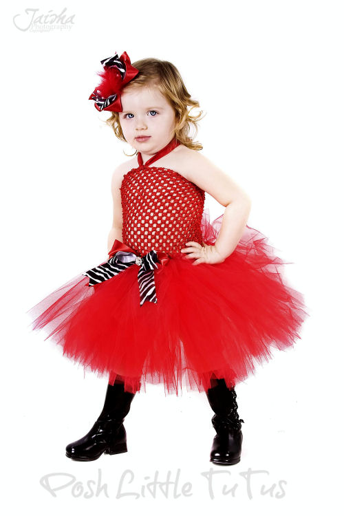sweet-dress Red Dress for Little Girls