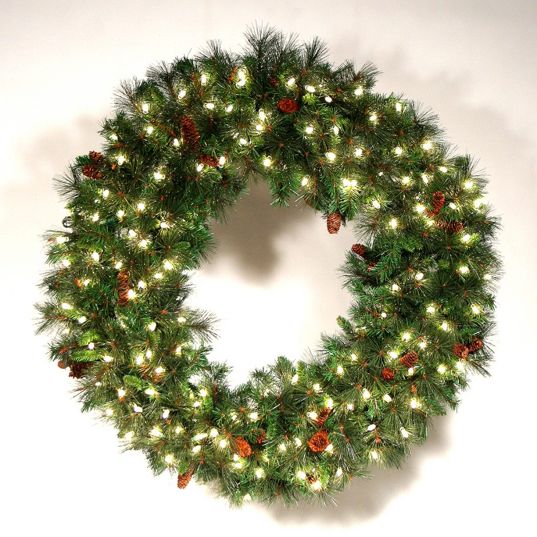 wreath-holiday-lights Prepare your Home Decorations For Next Holidays