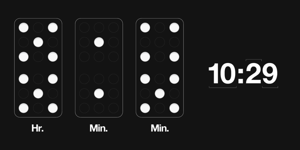 03-DominoClock_TimeDiagram Best 25 Creative Clock Ideas