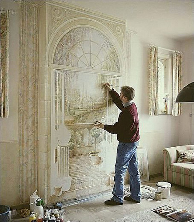 1-Amazing-New-Take-on-House-Decoration-3D-Wall-Paintings 45 Stunning 3D Paintings for Decoration