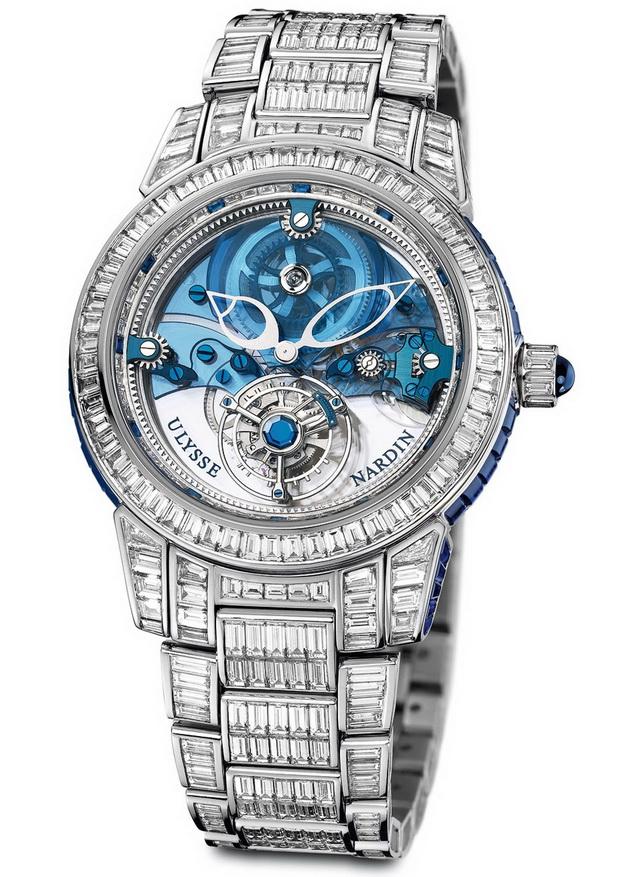 1.1-Million-Ulysse-Nardin-Royal-Blue-Tourbillion-Watch 11 Most Expensive Diamond Watches