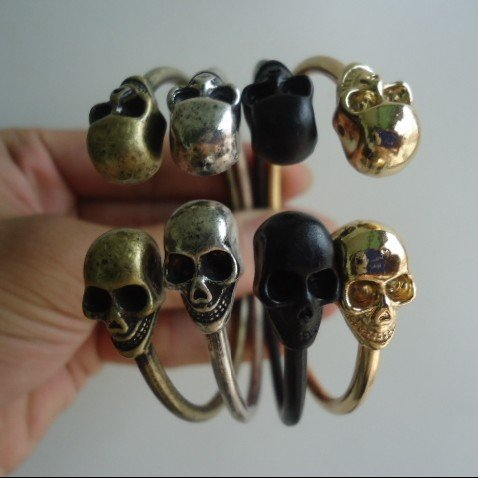 15-off-per-150-order-New-arrivall-12pcs-lot-Skull-Metal-Bangle-Bracelet-Jewellery-Skull The Skeletal whole and wrist bracelets