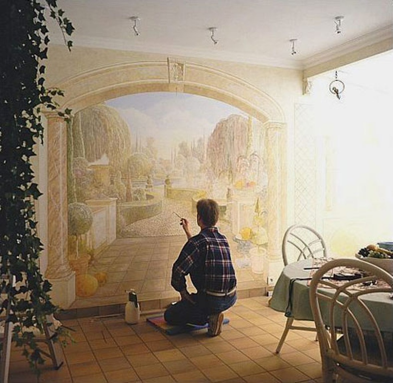 2-Amazing-New-Take-on-House-Decoration-3D-Wall-Paintings 45 Stunning 3D Paintings for Decoration
