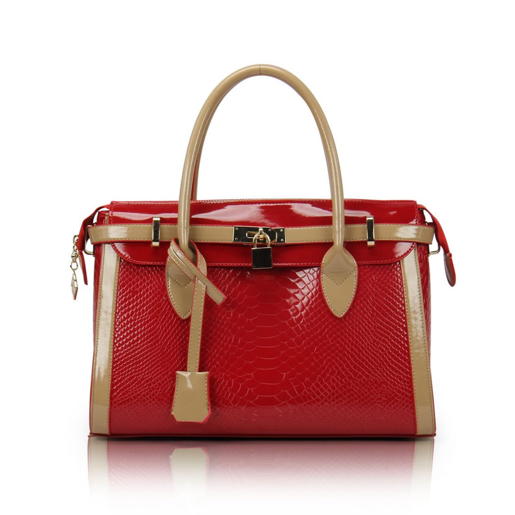 2013-fashion-Color-block-women-s-handbags-fish-scale-patterm-red-bride-japanned-leather-bag-crocodile The Next 7 Women's Bag Fashion Trends of This Year!