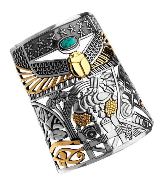 2c25fc661020121030164918_Azza-Fahmy-Nostalgia-Collection-Pharaonic-Cuff-Jewellery-Fashion-Egypt Top 7 Stylish Pharaonic Jewelry Pieces