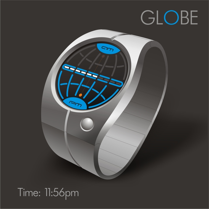 Amazing-Cool-Globe-Earthly-Origins-LED-Watch-Concept-Design-Ideas Top 35 Amazing Futuristic Watches